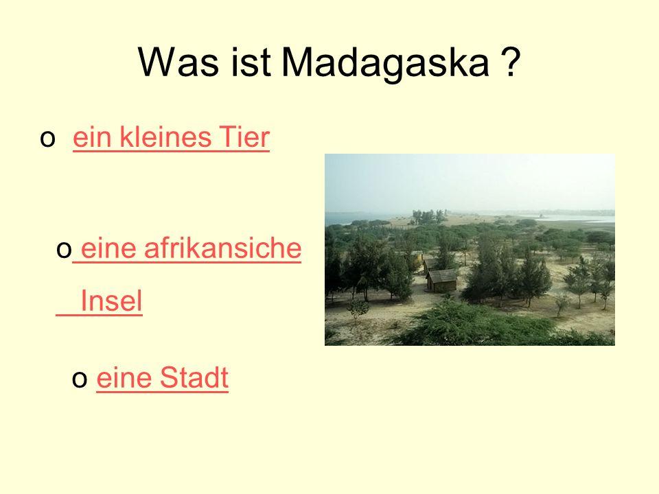 Was ist Madagaska .