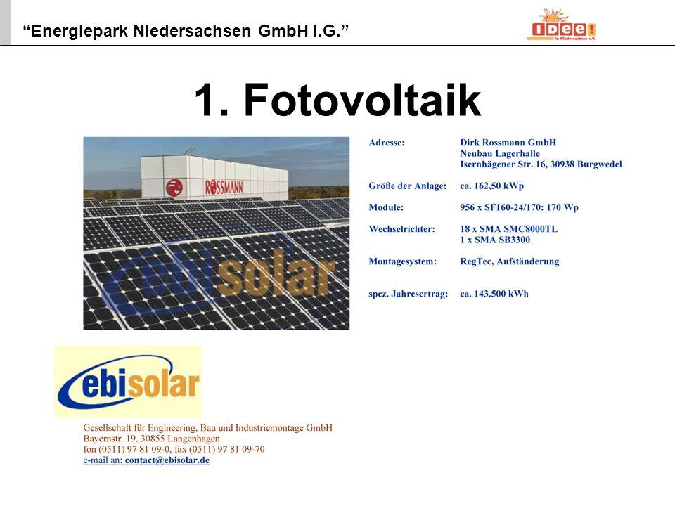 Energiepark Niedersachsen GmbH i.G. 3 2. Kleinstwindkraftanlage