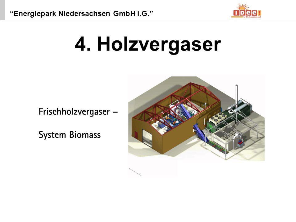 Energiepark Niedersachsen GmbH i.G. 6 5. Biomassehof NaWaRo-Hackschnitzelproduktion