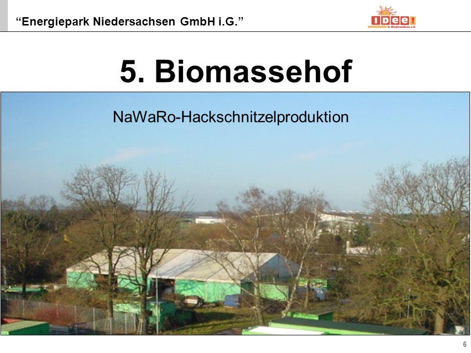 Energiepark Niedersachsen GmbH i.G. 7 6. Mini-BHKW