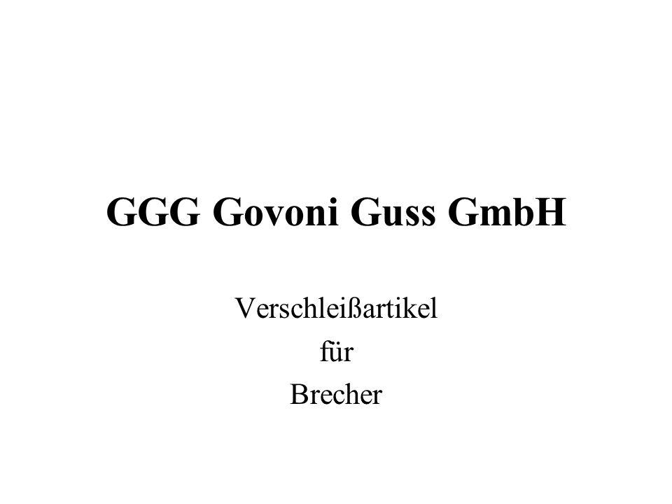 GGG Govoni Guss GmbH Verschleißartikel für Brecher
