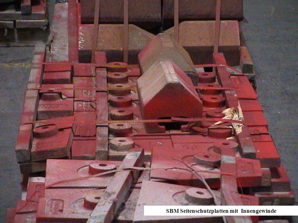 SBM Seitenschutzplatten mit Innengewinde
