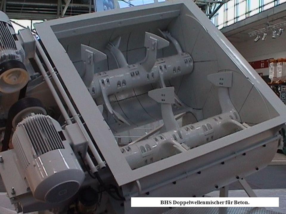 BHS Doppelwellenmischer für Beton.