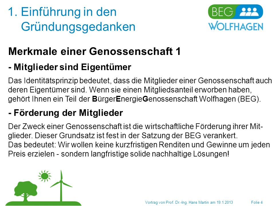 4.Aktueller Stand (13.1.2013) Vortrag von Prof. Dr.-Ing.