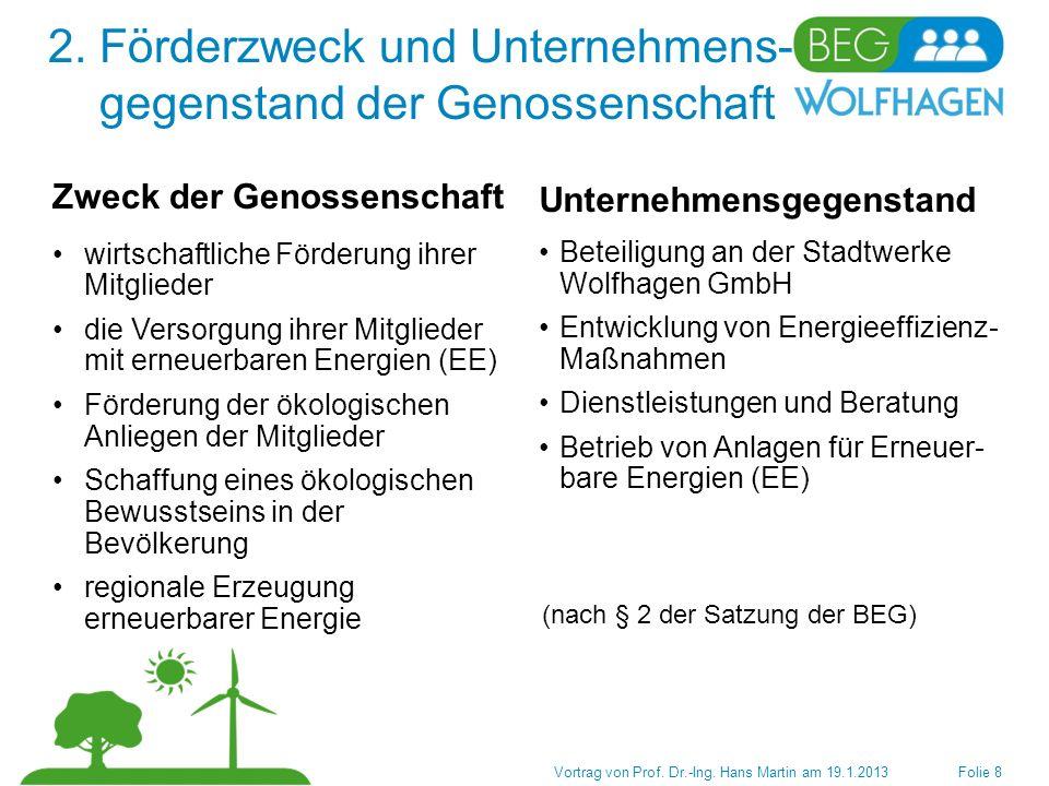 3.Struktur der Genossenschaft Vortrag von Prof. Dr.-Ing.
