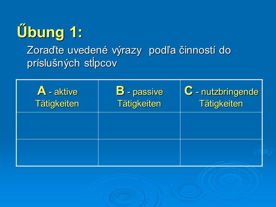 Nemecký jazyk Cvičenia pre SŠ