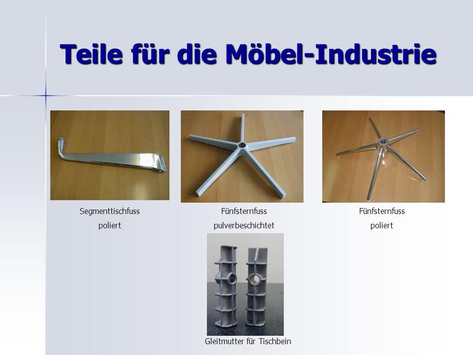 Teile für die Möbel-Industrie Segmenttischfuss poliert Fünfsternfuss pulverbeschichtet Fünfsternfuss poliert Gleitmutter für Tischbein