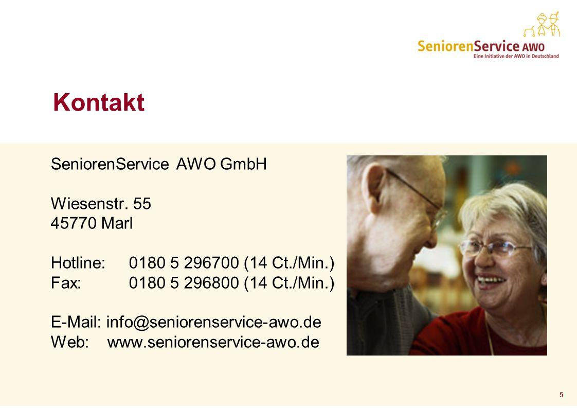 5 Kontakt SeniorenService AWO GmbH Wiesenstr.