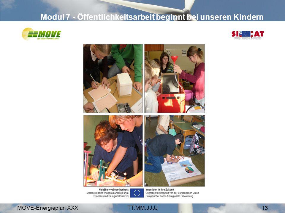 MOVE-Energieplan XXXTT.MM.JJJJ 13 Modul 7 - Öffentlichkeitsarbeit beginnt bei unseren Kindern