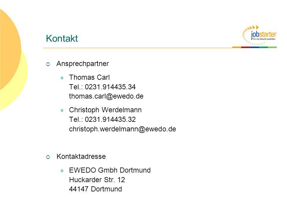 Kontakt Ansprechpartner Thomas Carl Tel.: 0231.914435.34 thomas.carl@ewedo.de Christoph Werdelmann Tel.: 0231.914435.32 christoph.werdelmann@ewedo.de