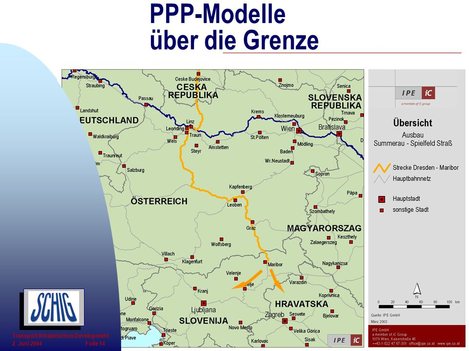 PPP-Modelle über die Grenze Transport Infrastructure Development 2. Juni 2004 Folie 14