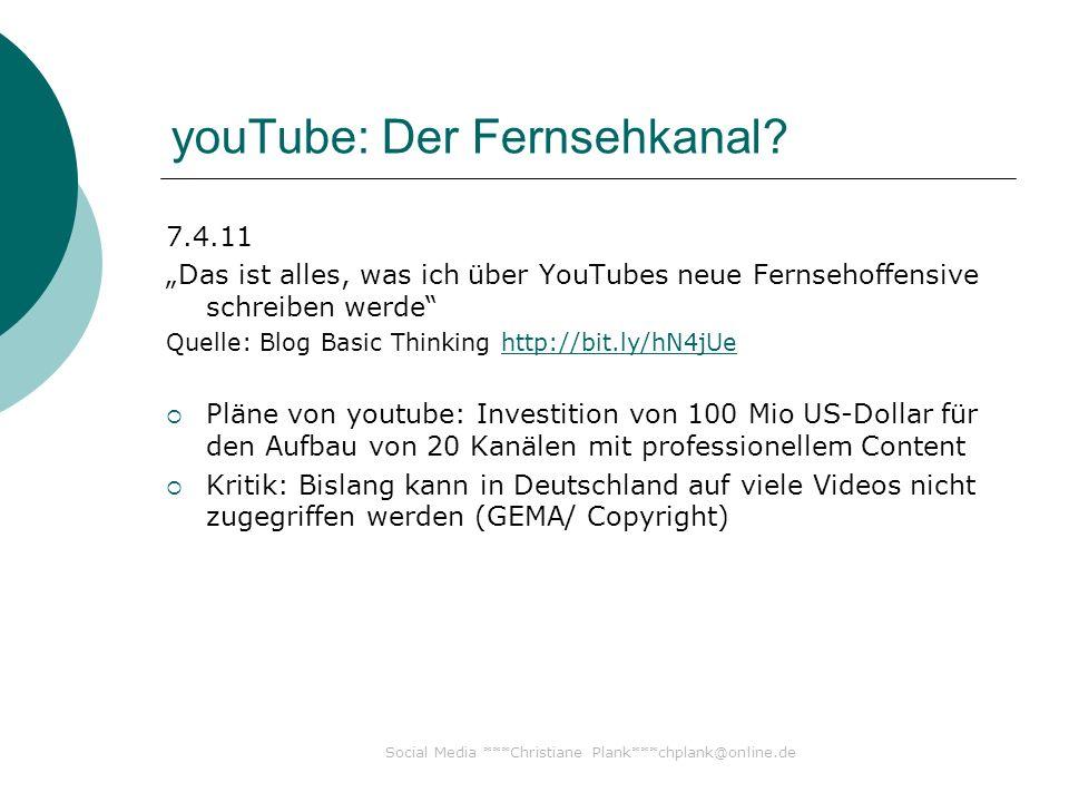 Social Media ***Christiane Plank***chplank@online.de Link-Tipps 1 11.4.2011 Facebook Seite oder Place anlegen & aktivieren – so funktionierts.
