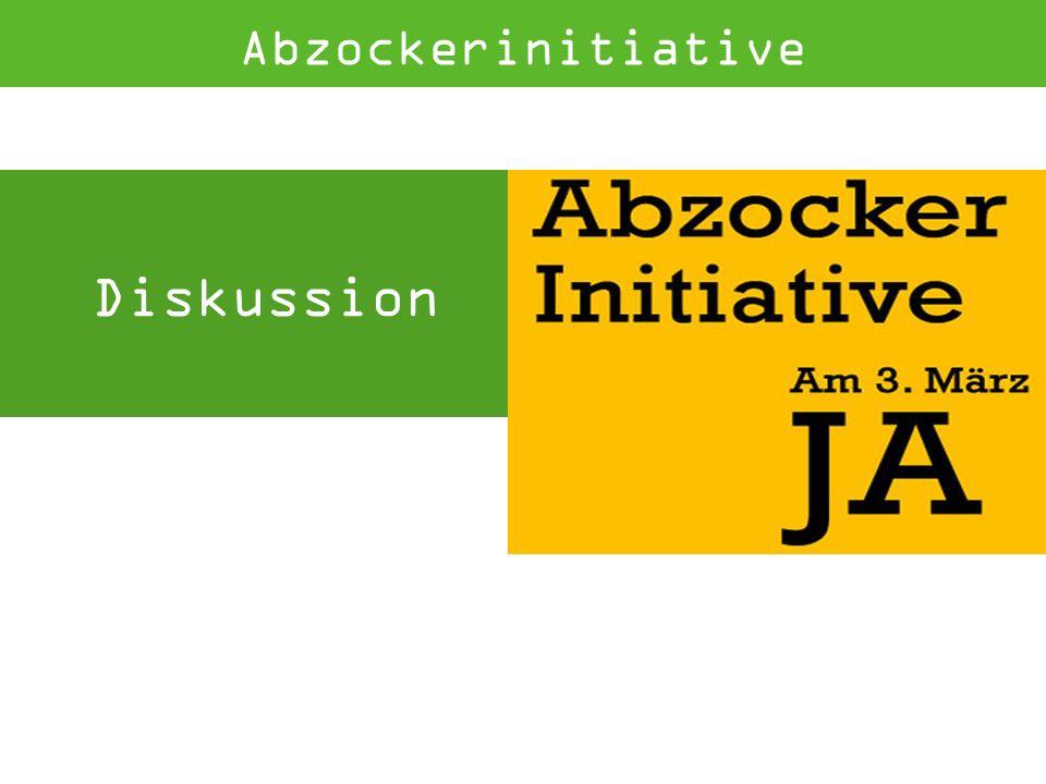 Diskussion Abzockerinitiative