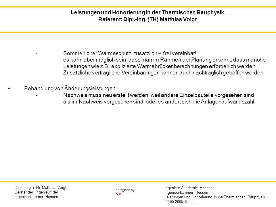 designed by S.V. -Sommerlicher Wärmeschutz zusätzlich – frei vereinbar! -es kann aber möglich sein, dass man im Rahmen der Planung erkennt, dass manch