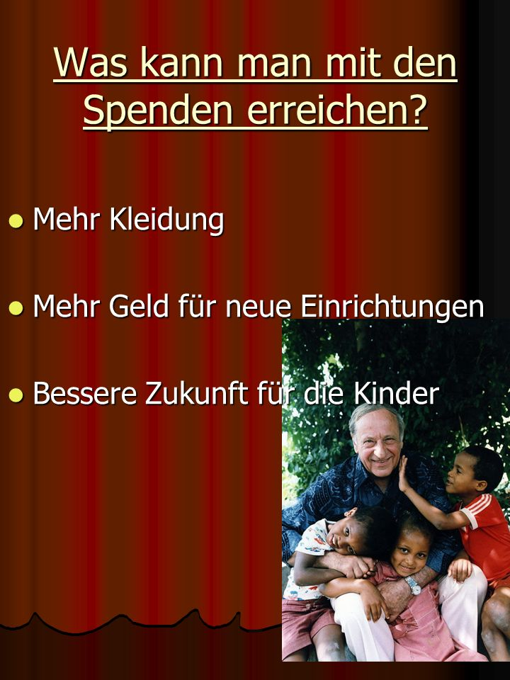 Was machen wir . Wir sammeln Spenden für ein SOS Kinderdorf in Norderstedt.