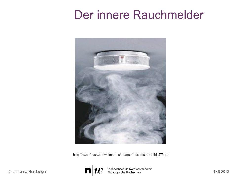 Der innere Rauchmelder 18.9.2013 Dr. Johanna Hersberger http://www.feuerwehr-weitnau.de/images/rauchmelder-bild_579.jpg