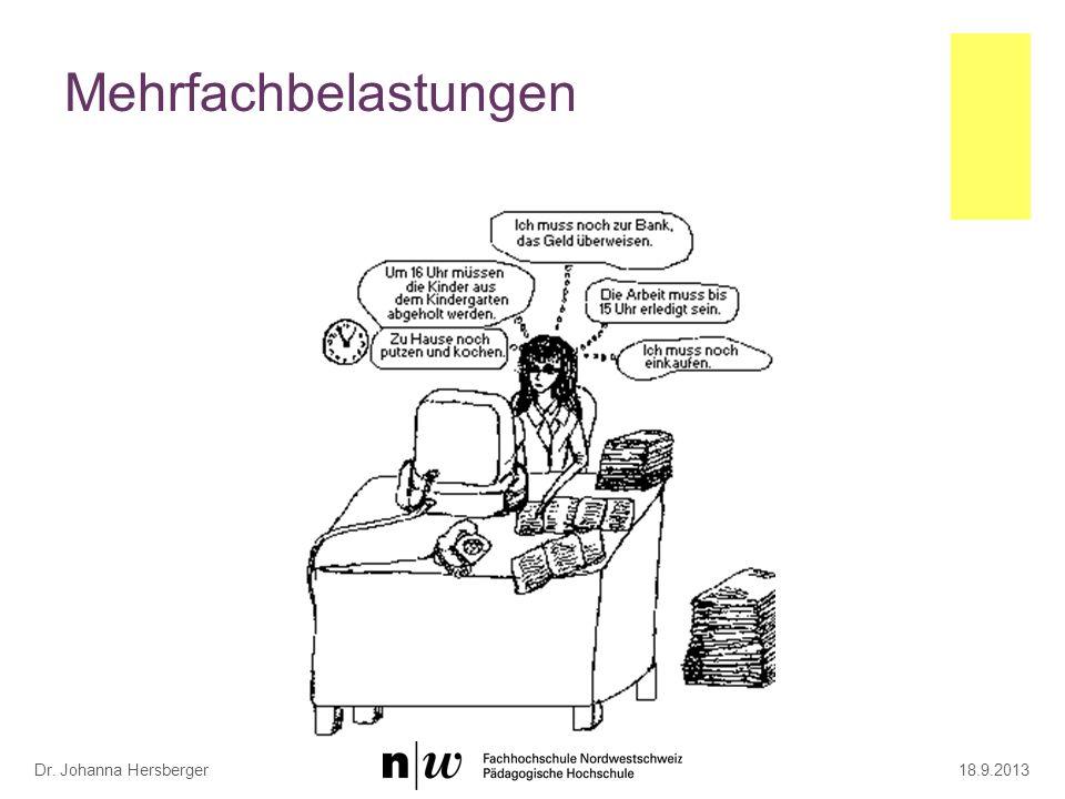 Mehrfachbelastungen 18.9.2013Dr. Johanna Hersberger