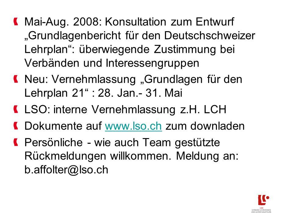 Bildungsraum NWCH: Umsetzung Kanton Solothurn II Abschlusszertifikat Volksschule Sek-I-Reform Bereichern und Beschleunigen neu Tagesstrukturen in parlament.