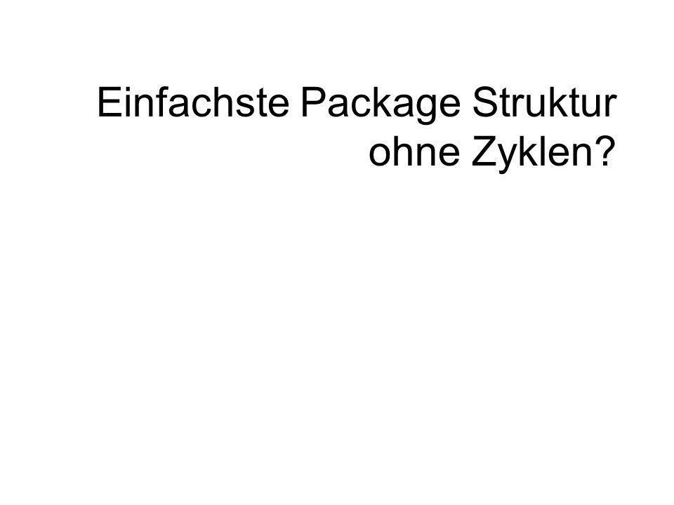 Einfachste Package Struktur ohne Zyklen?