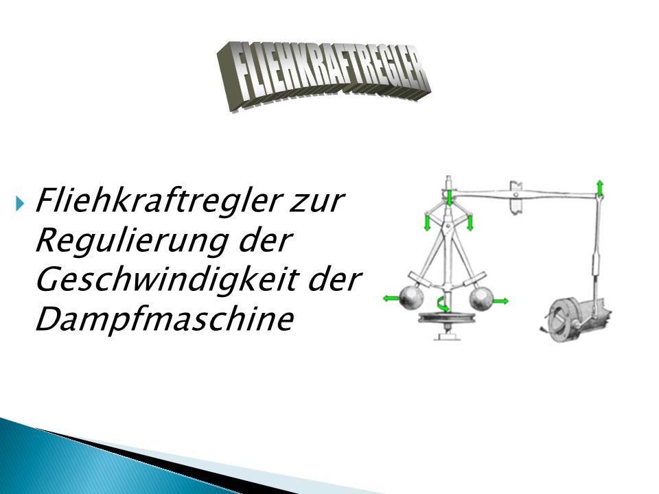 Fliehkraftregler zur Regulierung der Geschwindigkeit der Dampfmaschine