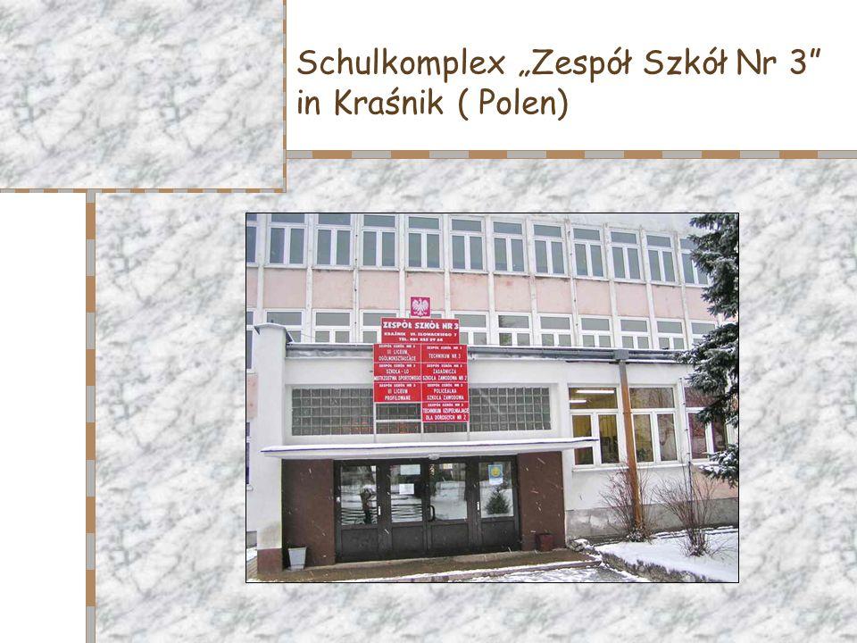Schulkomplex Zespół Szkół Nr 3 in Kraśnik ( Polen)