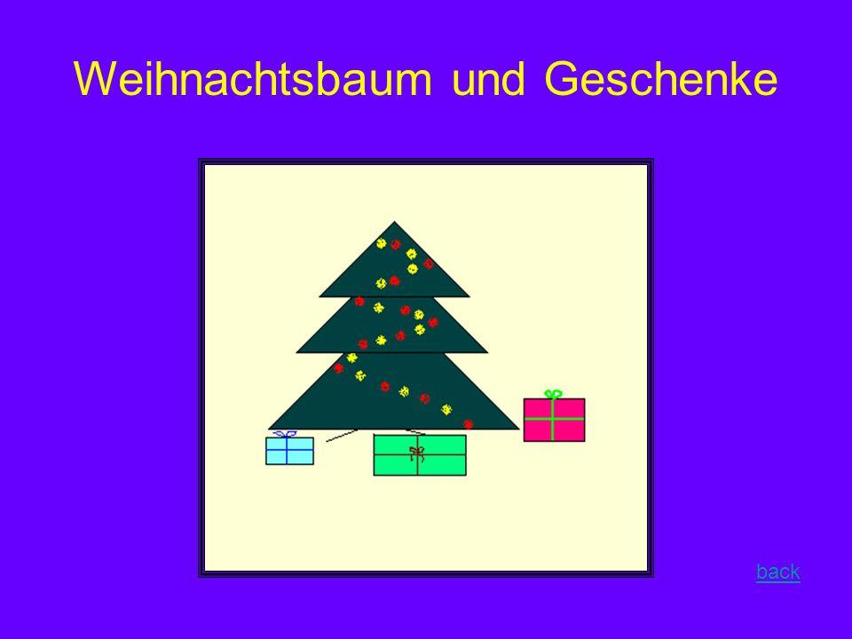 Weihnachtsbaum und Geschenke back