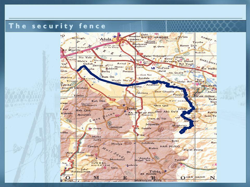 Die Route wurde aufgrund von Sicherheitsbedürfnissen und lokaler topografischer Bedingungen bestimmt.
