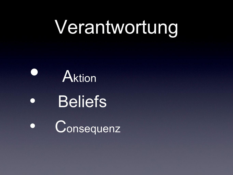 Verantwortung A ktion Beliefs C onsequenz