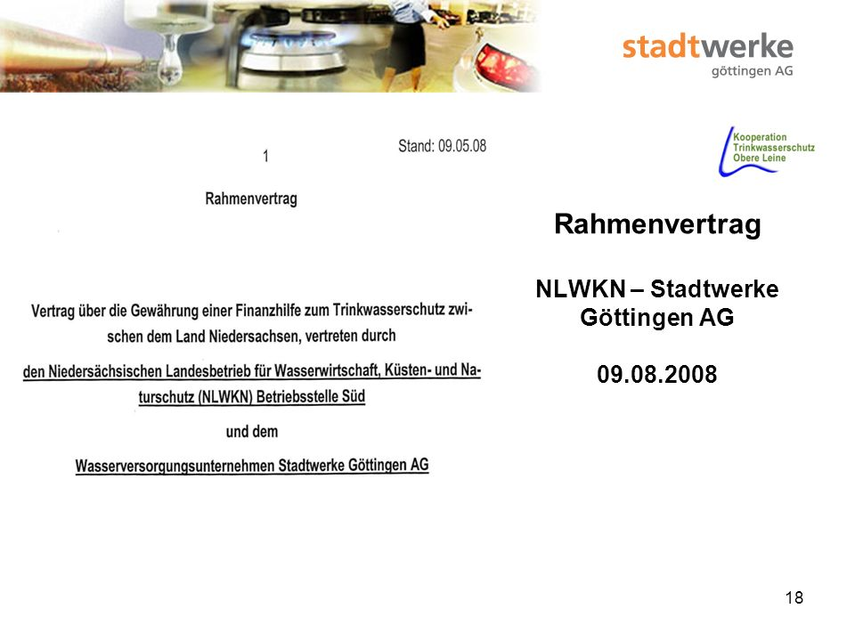 19 Rahmenvertrag NLWKN – Stadtwerke Göttingen AG 13.08.2008
