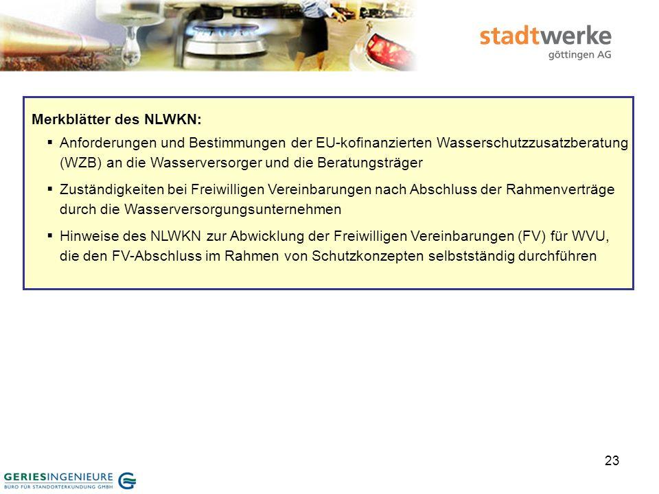 24 Übernahme 378 laufender Verträge (Freiwillige Vereinbarungen) vom NLWKN am 15.08.2008 Einverständniserklärung bzgl.