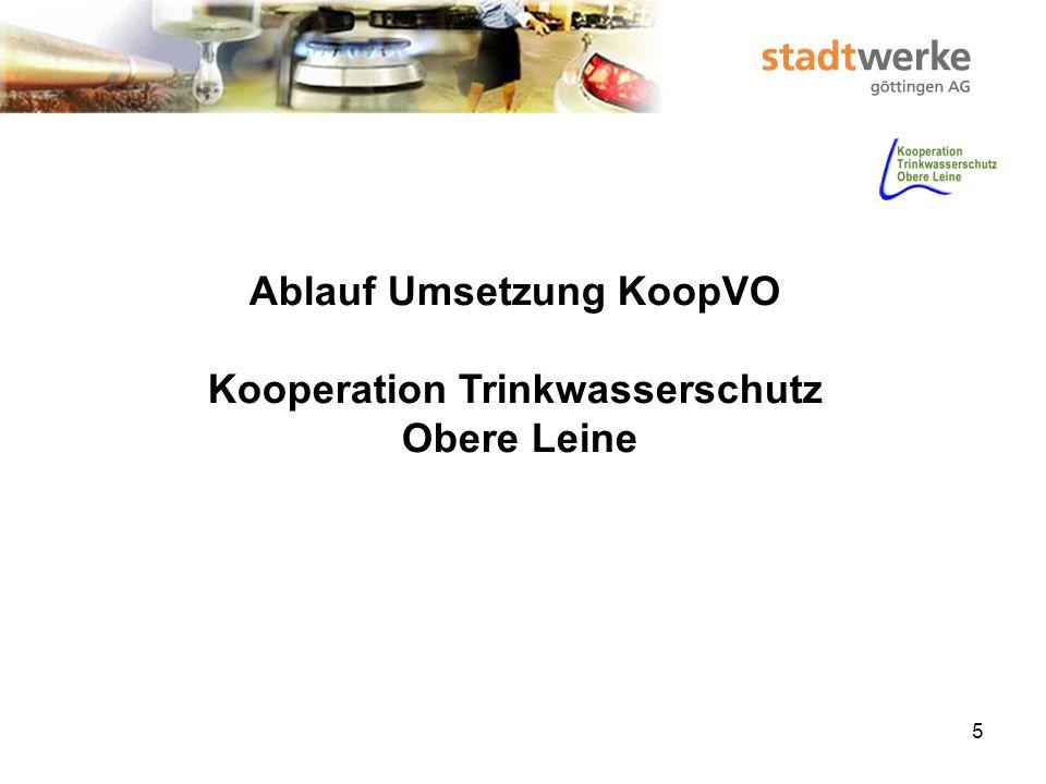 6 Kooperationgründung 2006 Trinkwasserschutz – Obere Leine Wasserversorgungsunternehmen und Landwirte