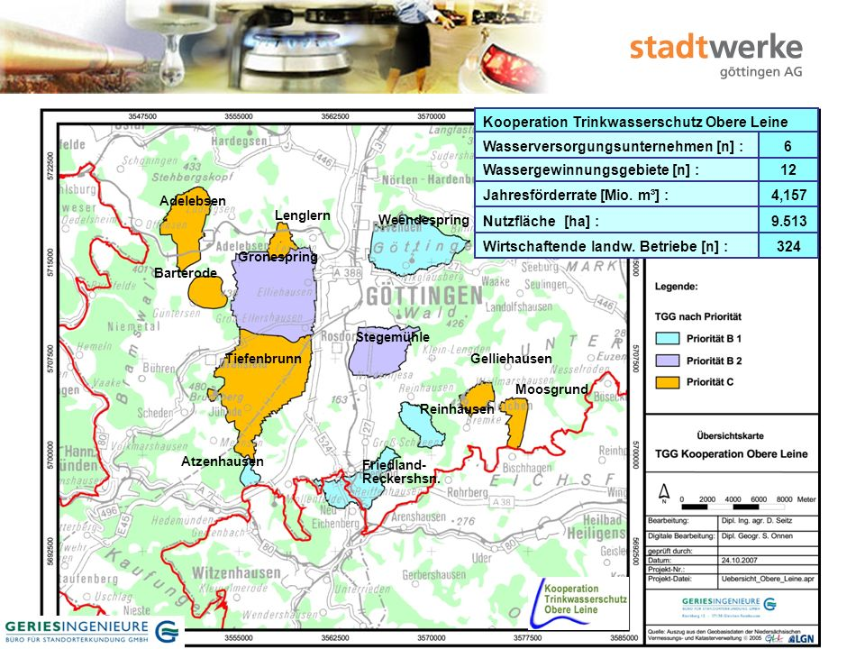 8 Organisationsplan Kooperation Trinkwasserschutz Obere Leine WVULandwirte Geschäftsstelle Stw.