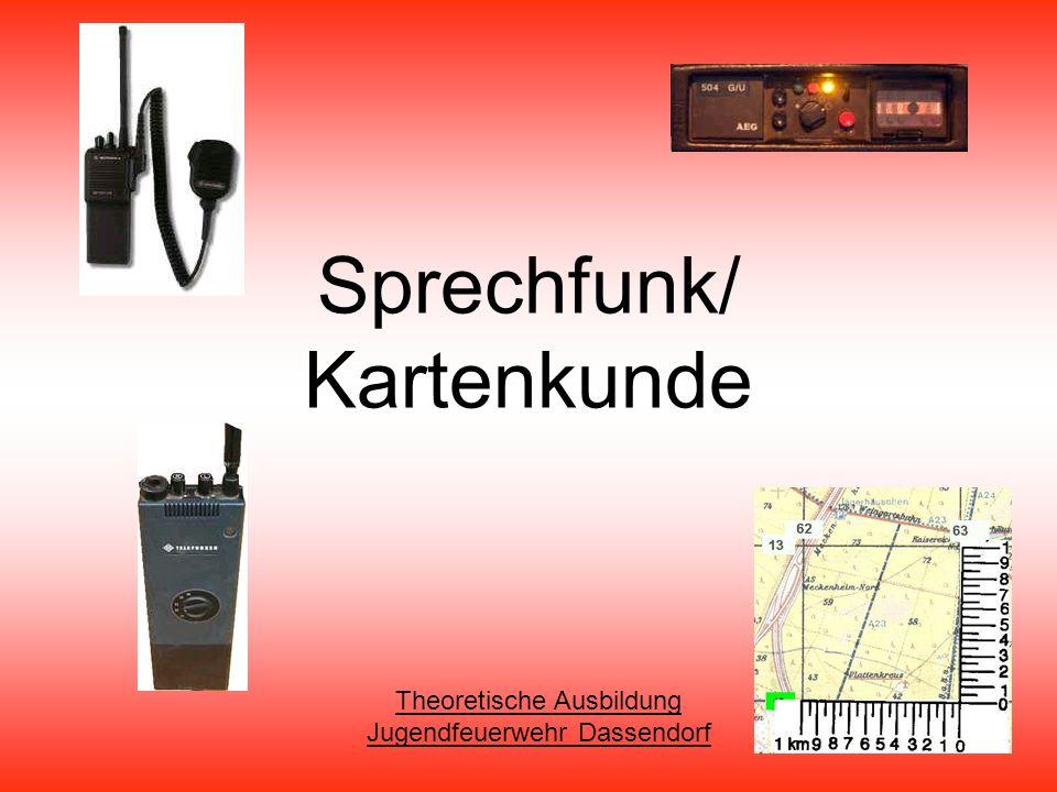 Sprechfunk/ Kartenkunde Theoretische Ausbildung Jugendfeuerwehr Dassendorf