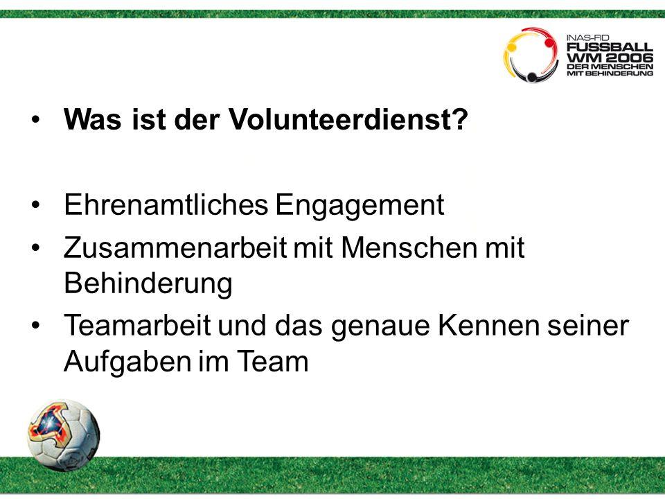 Was ist der Volunteerdienst.