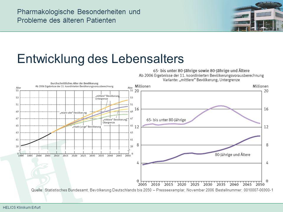 HELIOS Klinikum Erfurt Pharmakologische Besonderheiten und Probleme des älteren Patienten -Veränderte Sensibilität und pharmakologische Wirkung (Dosis nach Wirkung titrieren – ausreichend lange warten) -Verminderte Leber- und Nierenfunktionen (Abbauwege beachten - Mivacurium !!!)
