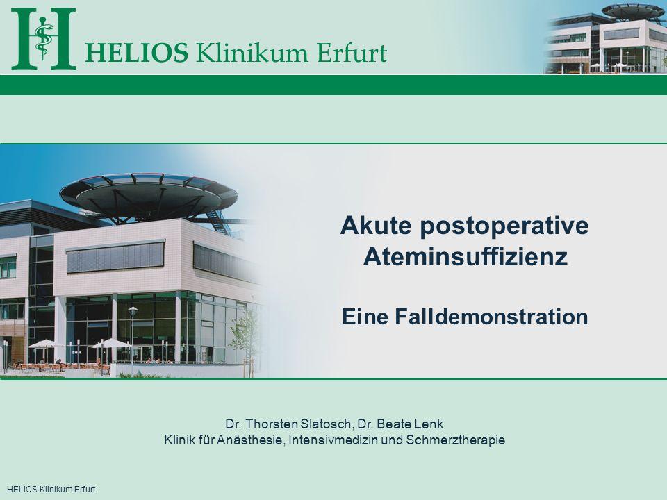 HELIOS Klinikum ErfurtKlinik für Anästhesie, Intensivmedizin und Schmerztherapie Röntgen im AWR