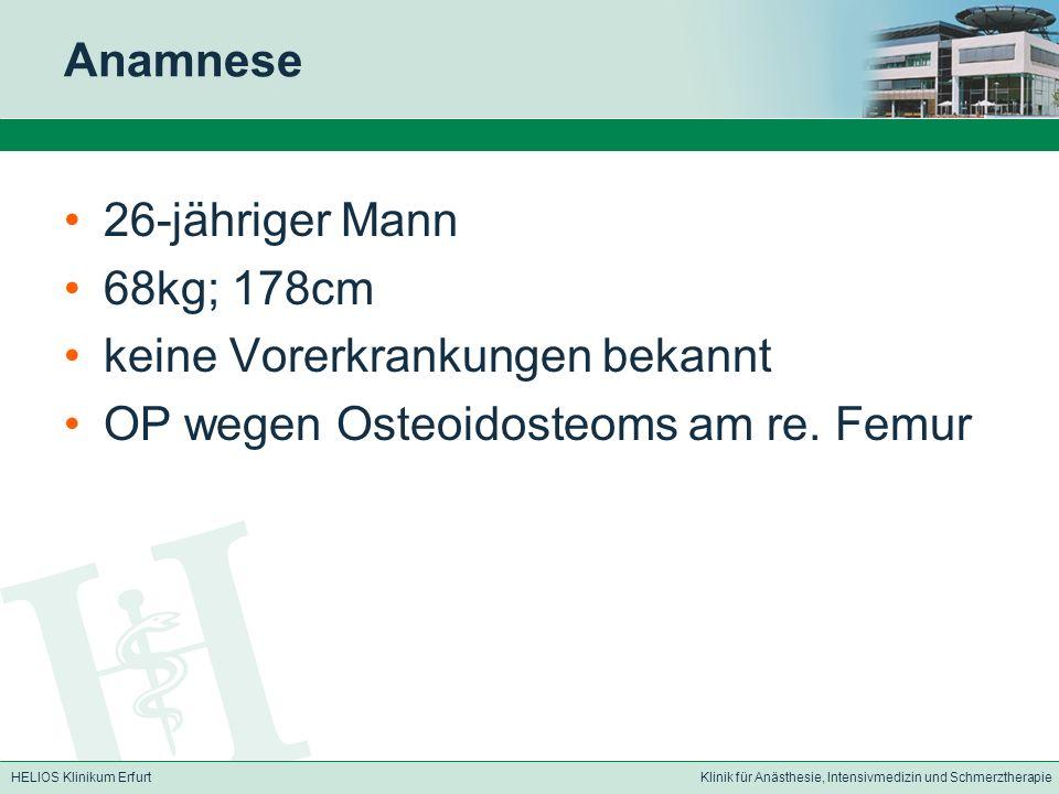 HELIOS Klinikum ErfurtKlinik für Anästhesie, Intensivmedizin und Schmerztherapie Diagnose.