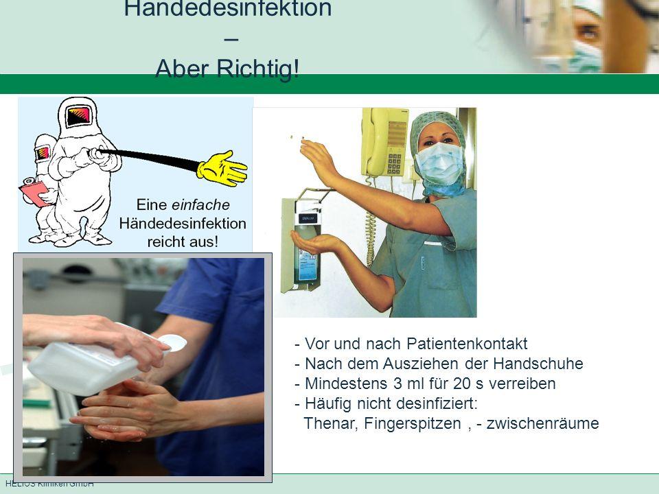 HELIOS Kliniken GmbH Händedesinfektion – Aber Richtig.