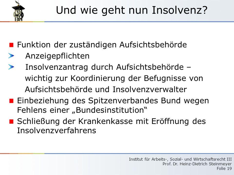 Institut für Arbeits-, Sozial- und Wirtschaftsrecht III Prof.