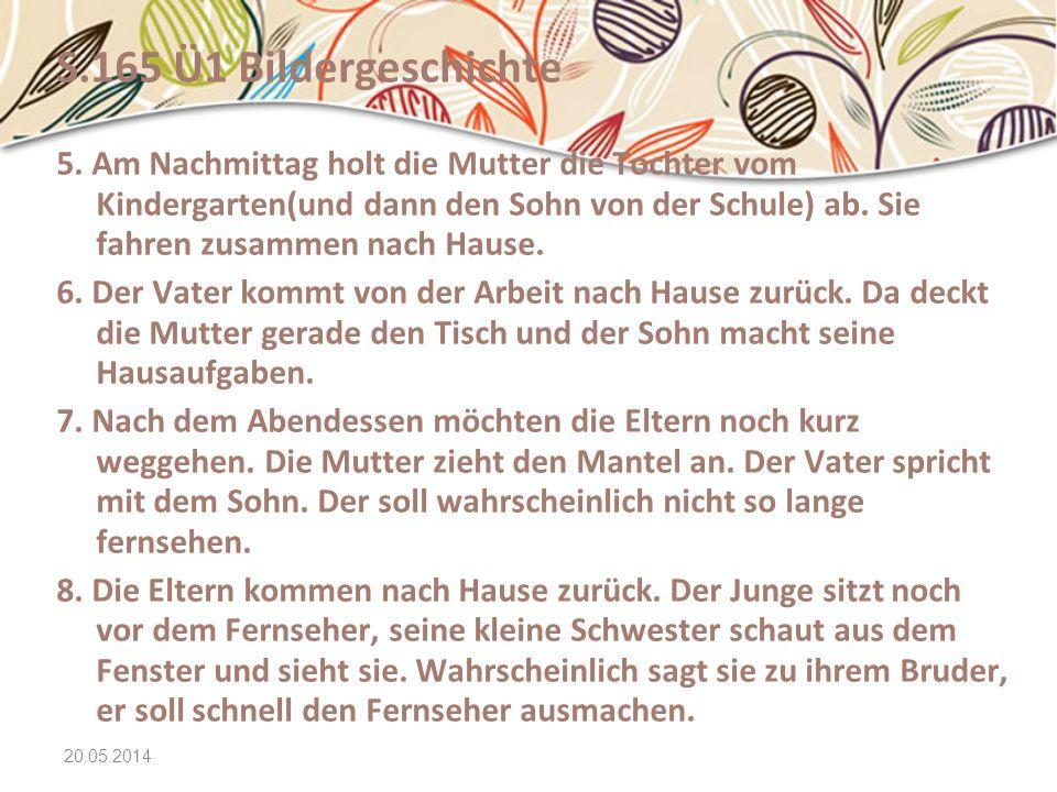 20.05.2014 Text 1 Ü2 Familie SchäferVornameAlter(ca.)Arbeit/...