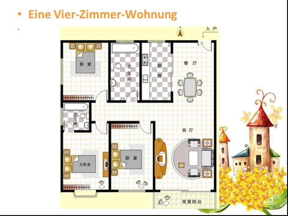 . Eine Vier-Zimmer-Wohnung