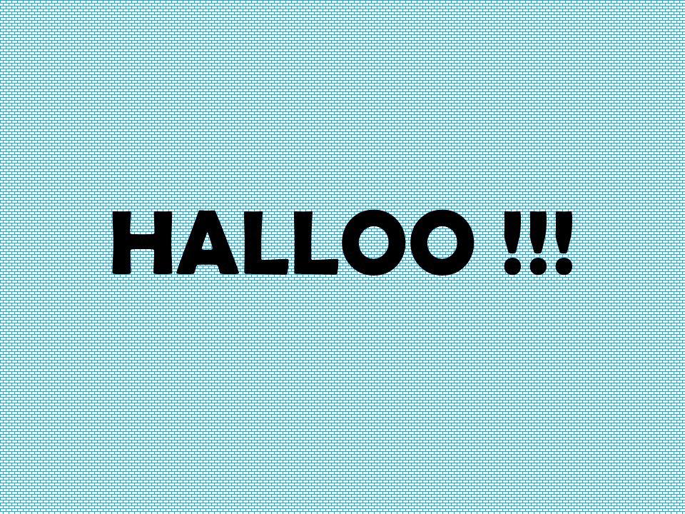 HALLOO !!!