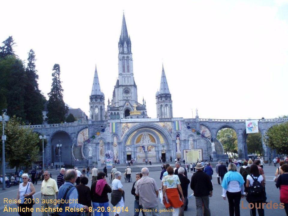 Sich selber Gutes tun – und gleichzeitig spenden Lourdes Reise 2013 ausgebucht Ähnliche nächste Reise: 8.-20.9.2014 30 Plätze / 4 gebucht
