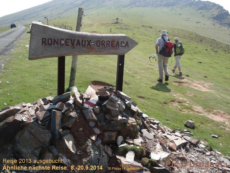 Sich selber Gutes tun – und gleichzeitig spenden Pic dUrdaneta Reise 2013 ausgebucht Ähnliche nächste Reise: 8.-20.9.2014 30 Plätze / 4 gebucht