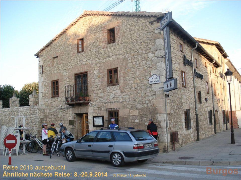 Sich selber Gutes tun – und gleichzeitig spenden Burgos Reise 2013 ausgebucht Ähnliche nächste Reise: 8.-20.9.2014 30 Plätze / 4 gebucht