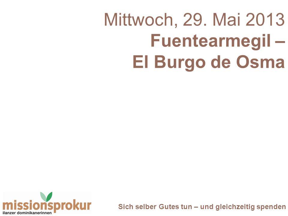 Mittwoch, 29. Mai 2013 Fuentearmegil – El Burgo de Osma