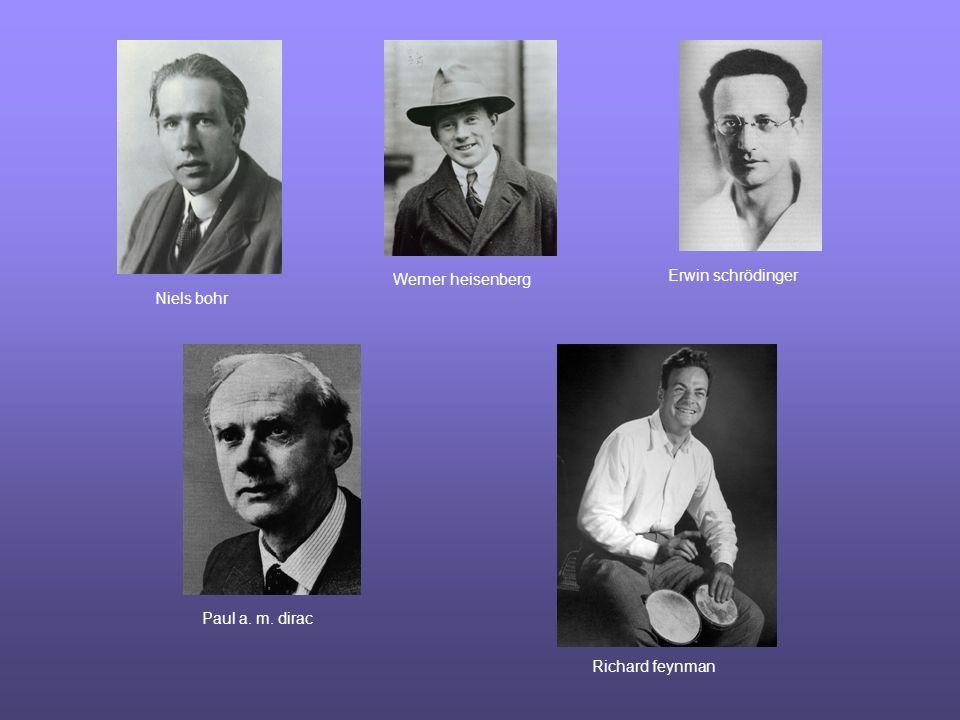 Niels bohr Werner heisenberg Erwin schrödinger Paul a. m. dirac Richard feynman