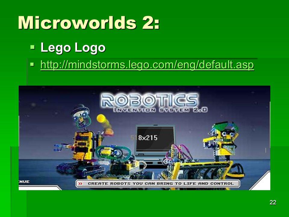 21 Microworlds 1: LOGO LOGO