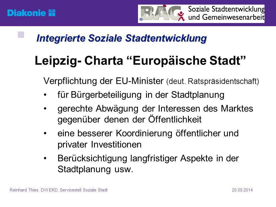 20.05.2014Reinhard Thies, DW EKD, Servicestell Soziale Stadt Bund-Länder-Programme (Anteile Bund, Stand: 2007) Bund-Länder-Programme (Anteile Bund, Stand: 2007) Allg.