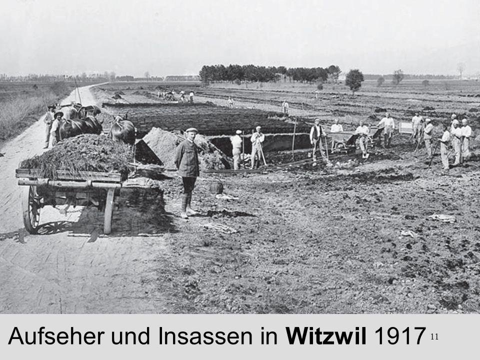 11 Aufseher und Insassen in Witzwil 1917